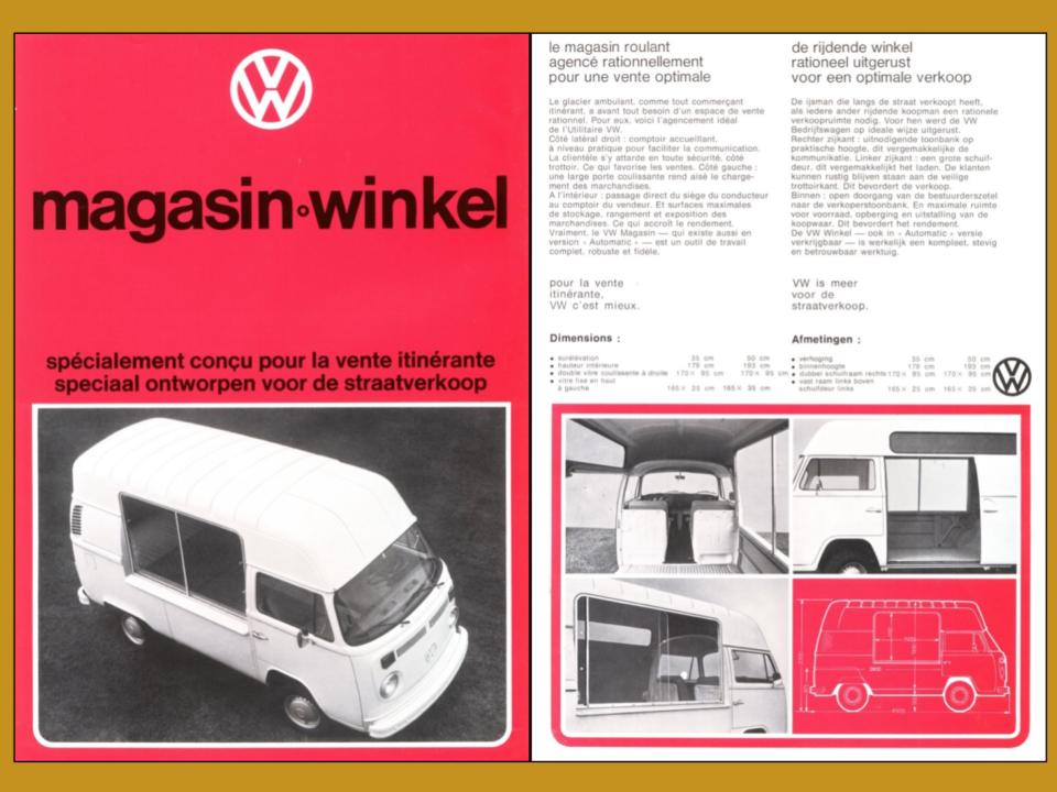 Volkswagen ijsbus winkel